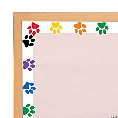 Paw Print Bulletin Board Borders
