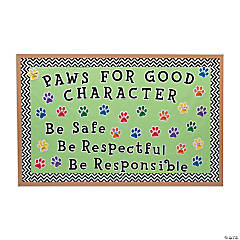 Paw Print Bulletin Board Idea