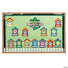 Paw Print Classroom Job Chart