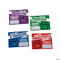 Paw Print Scratch Reward Cards