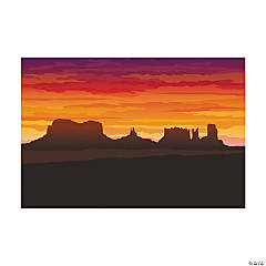3 Pc. Western Desert Backdrop Banner