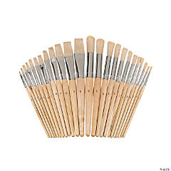 24 Pc. Wonderful White Bristles! Easel Brush Set