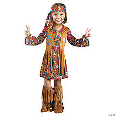Peace Love Hippie Costume for Toddler Girls