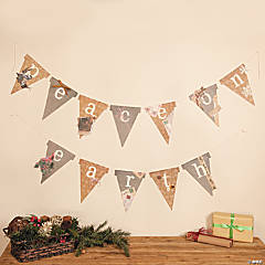 Peace on Earth Pennant Christmas Banner Idea