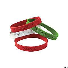 Peace on Earth Rubber Bracelets