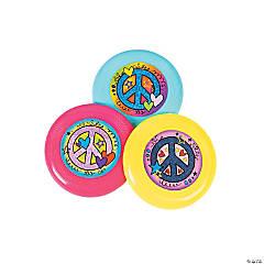 Peace Sign Mini Flying Discs