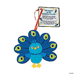 Peacock Christmas Ornaments with Poem Craft Kit