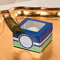 Peacock Cupcake Boxes Idea