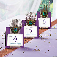 Peacock Wedding Table Numbers Idea