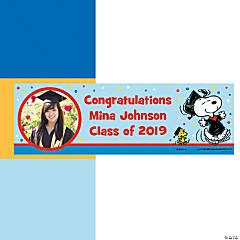 Peanuts® Custom Photo Graduation Banner