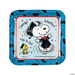 Peanuts® Graduation Square Paper Dinner Plates