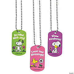 Peanuts® Inspirational Dog Tag Necklaces
