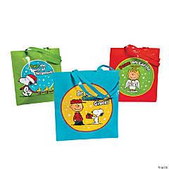 Peanuts® Laminated Christmas Inspirational Tote Bags