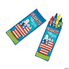 Peanuts® Patriotic Crayons