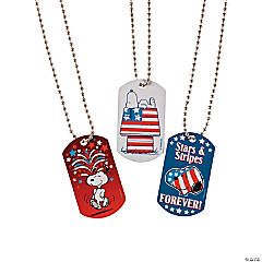Peanuts® Patriotic Dog Tag Necklaces
