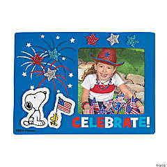 Peanuts® Patriotic Picture Frame Magnet Craft Kit