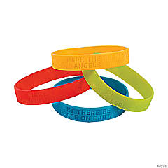 Peanuts<sup>&#174;</sup> Christmas Inspirational Rubber Bracelets