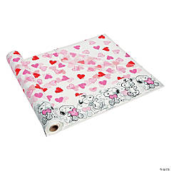 Peanuts® Valentine Plastic Tablecloth Roll