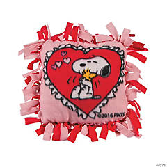 Peanuts® Valentine Tied Fleece Pillow Craft Kit