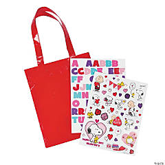 Peanuts® Valentine Tote Bag Craft Kit