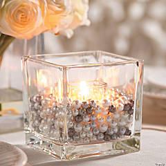 Pearl-Filled Candle Jar Idea