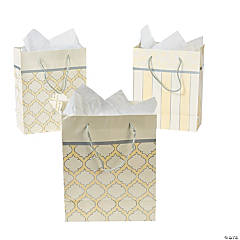 Pearl Metallic Wedding Gift Bags