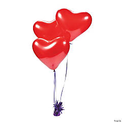 Pearlized Red Heart Balloons