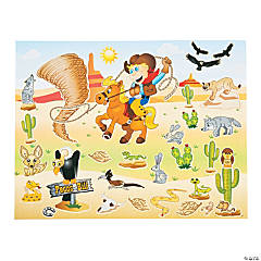 Pecos Bill Sticker Scenes