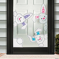 Peeking Bunnies Window Clings
