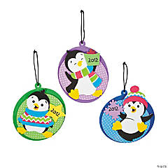 """2013"" Penguin Christmas Ornament Craft Kit"