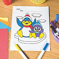 Penguin Free Printable Coloring Page