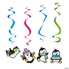 Penguin Party Hanging Swirls