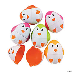 Penguin Plastic Easter Eggs