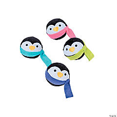 Penguin Plush Bouncy Ball Assortment