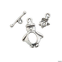 Penguin Toggle Clasps