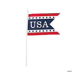 Pennant-Shaped Mini USA Flags