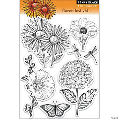 Penny Black Clear Stamps-Flower Festival