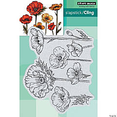 Penny Black Cling Stamps-Parade Of Flowers