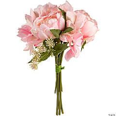 "Peony & Hydrangea Bouquet 11""-Light Pink"