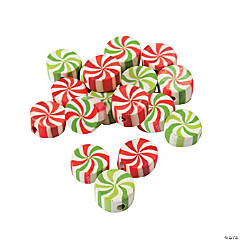 Peppermint Beads - 12mm