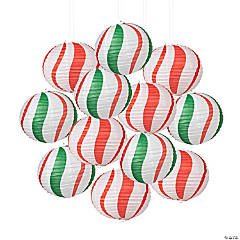 Peppermint Candy Balloon Hanging Paper Lanterns