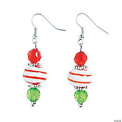 Peppermint Swirl Earrings Craft Kit