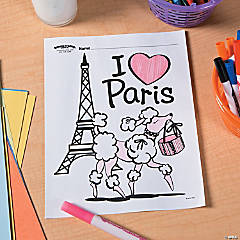 Perfectly Paris Free Printable Coloring Page Idea