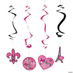 Perfectly Paris Hanging Swirls