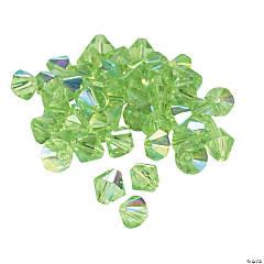 Peridot Aurora Borealis Crystal Bicone Beads - 8mm