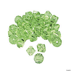 Peridot Crystal Bicone Beads - 8mm