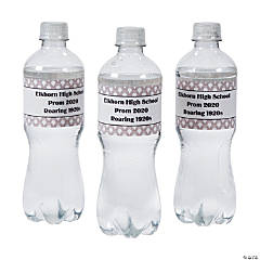 Personalized 1920s Water Bottle Labels