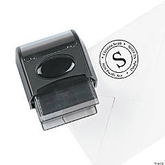 Personalized Address Self-Inking Stamper - Monogrammed Circle