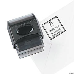 Personalized Address  Self-Inking Stamper - Monogrammed Square