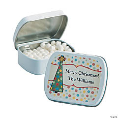 Personalized Antique Christmas Mint Tins